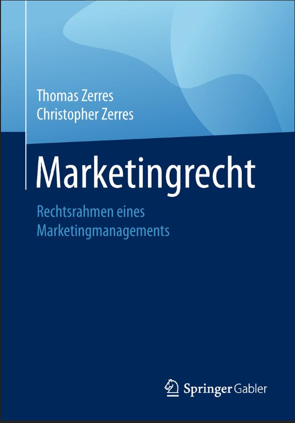 Prof. Dr. Christopher Zerres Buch Marketingrecht